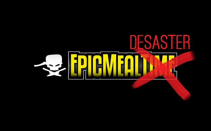 Yes, this is the reality: Epic Meal Time. Oder: Epic Meal Desaster ... | {Kochshow logo 60}