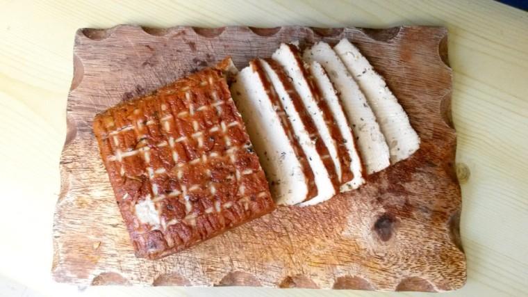 Tofu geschnitten